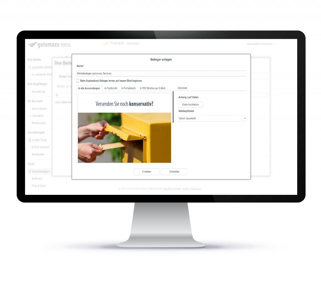 PDFMAILER - Post - Portal -Werbebeileger als Service