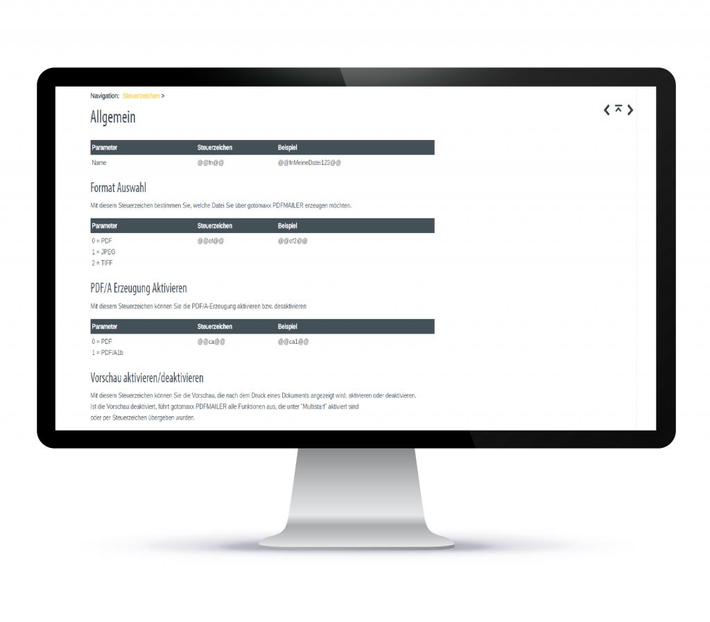 PDFMAILER - Services - PDF - Steuerzeichen zur Automatisierung Ihrer Prozesse